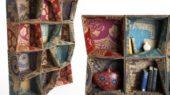 artistic cardboard storage units