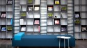 contemporary bookshelves cabinet design modular system