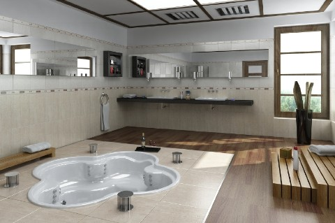 contemporary-floor-tub-decoration
