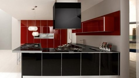 Black And Red Kitchen Archives Home Design Inspiration