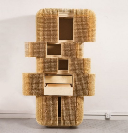 fantastic magistral cabinet design with Bamboo Skewers covered