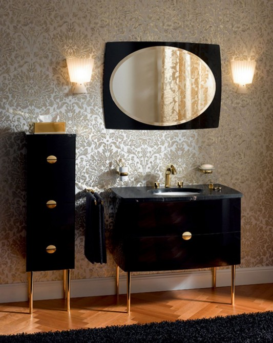 luxurious contemporary bathroom vanities classical style