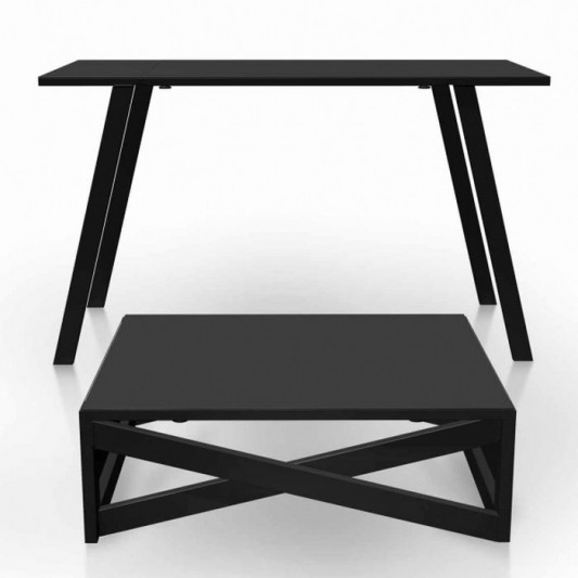 minimalist metal coffee table and dining table design