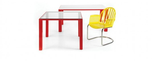 modern minimalist colorful dining furniture set