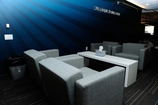 twitter new office design modern and cozy sofa